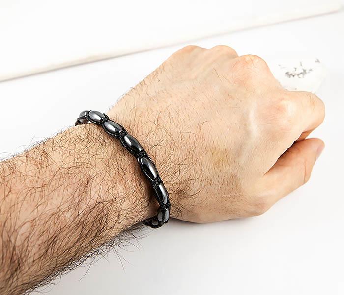 BS806 Мужской браслет из гематита «Diego Ferru» ручной работы фото 07