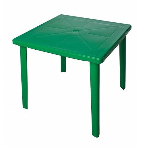 Пластиковый квадратный стол зеленый