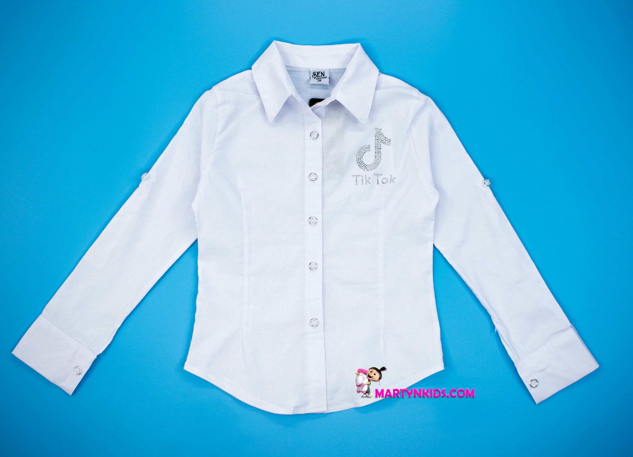 2723 рубашка белая TikTok