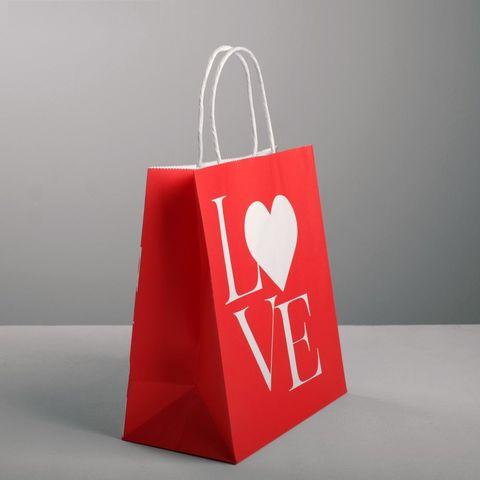 Бумажный пакет LOVE - 22 х 25 см.