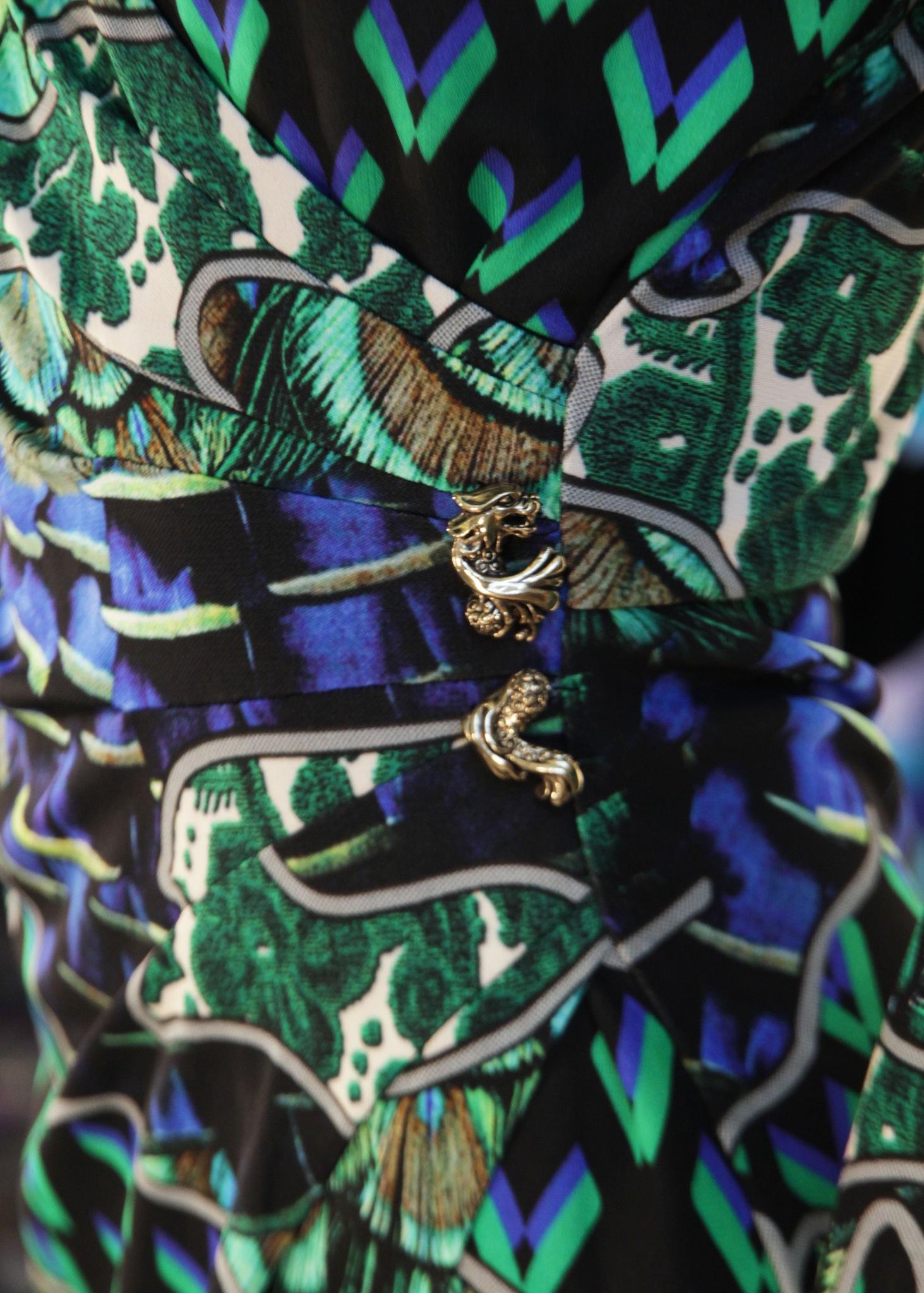 Платье из вискозы ROBERTO CAVALLI