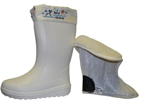 Женские зимние сапоги из ЭВА TORVI Онега белые -40