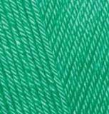 Пряжа Alize Diva 610 зеленая бирюза