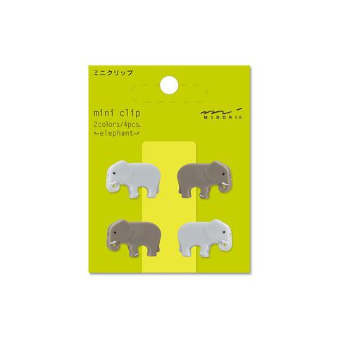 Зажимы Midori Mini Clip - Elephant