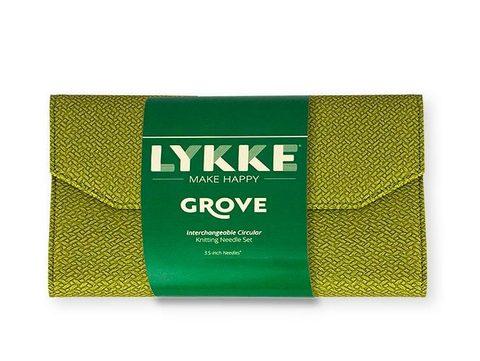 Набор бамбуковых разъемных спиц Lykke Green Basketweave Effect 7 см