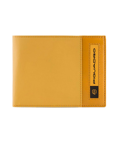 Кошелек Piquadro Bios, желтый, 12,5x9x2 см