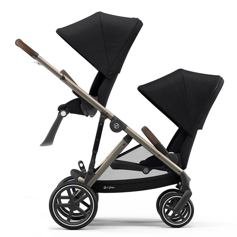Прогулочная коляска для двойни Cybex Gazelle S TPE Deep Black