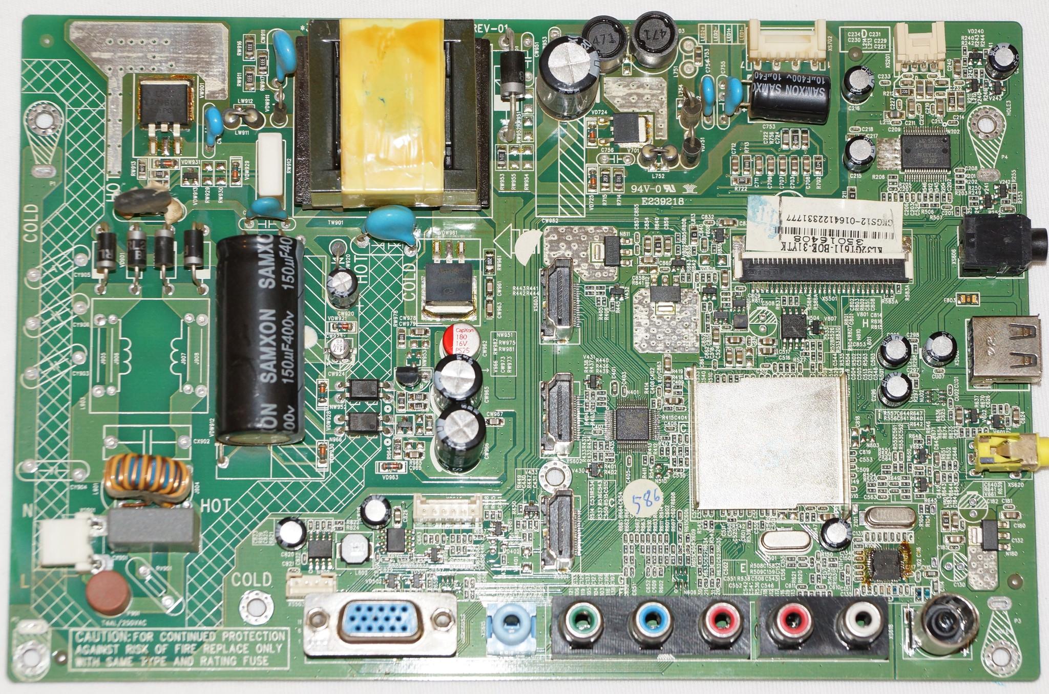 35016408 KL32GT611-BOE-31YTK mainboard телевизора Supra