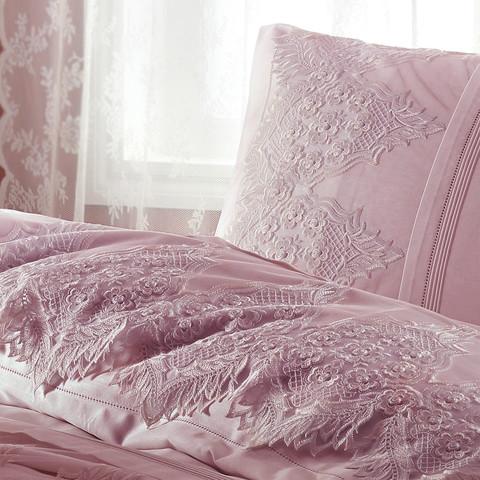 Постельное белье Gelin Home DONNA темно-розовый евро