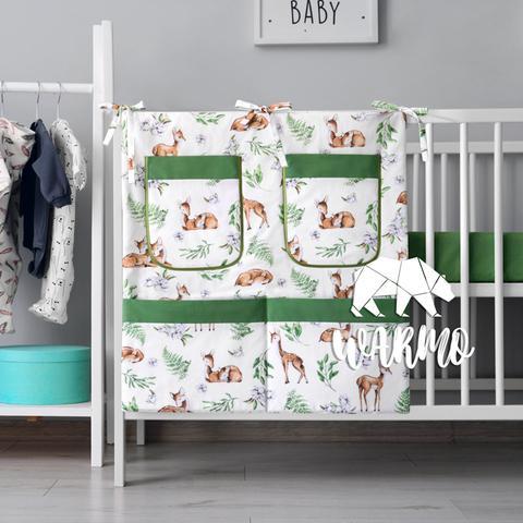 органайзер для ліжечка з зеленими оленями фото