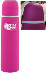 Термос Арктика 103-500К фукси с кнопкой (вмятина на крышке)