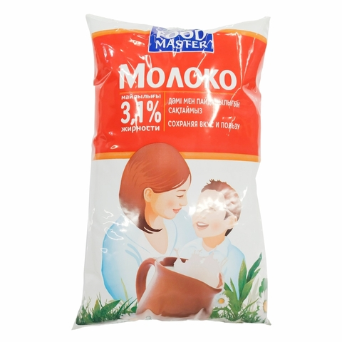 Молоко FOOD MASTER 3,1% 1 л ф/п КАЗАХСТАН