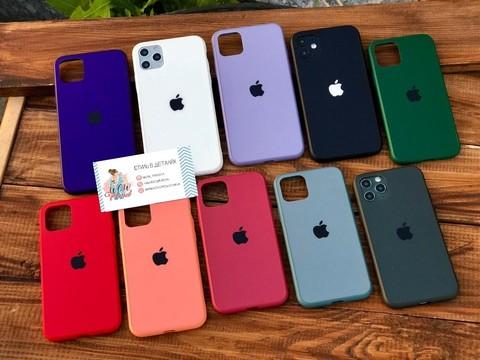 Чехол iPhone 11 Pro Glass Pastel Matte silicone /peach/