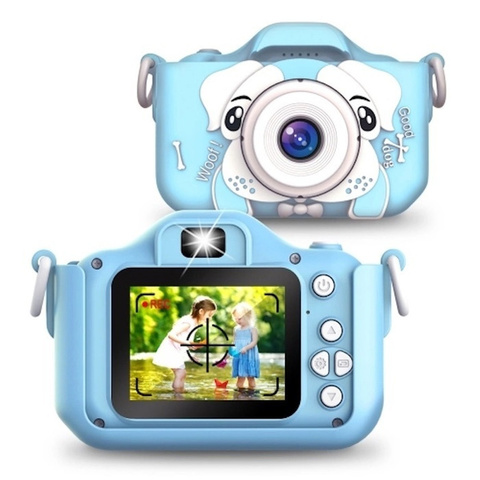 Детский фотоаппарат собачка голубой