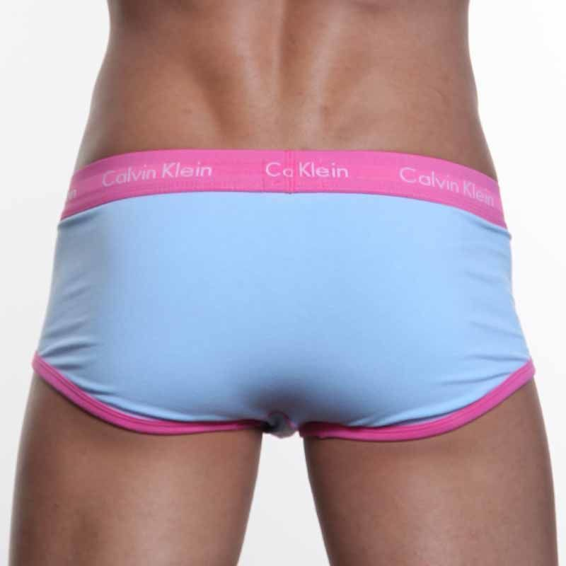 Мужские трусы брифы Calvin Klein 365 Blue Pink Brief