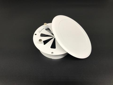Диффузор приточно-вытяжной на магнитах регулируемый ДК-150 круглый металлический белый