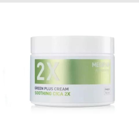 MEDIPAM Крем Двойной уход успокаивающий с центеллой азиатской (100мл) / Green Plus 2x Cream Soothing Cica