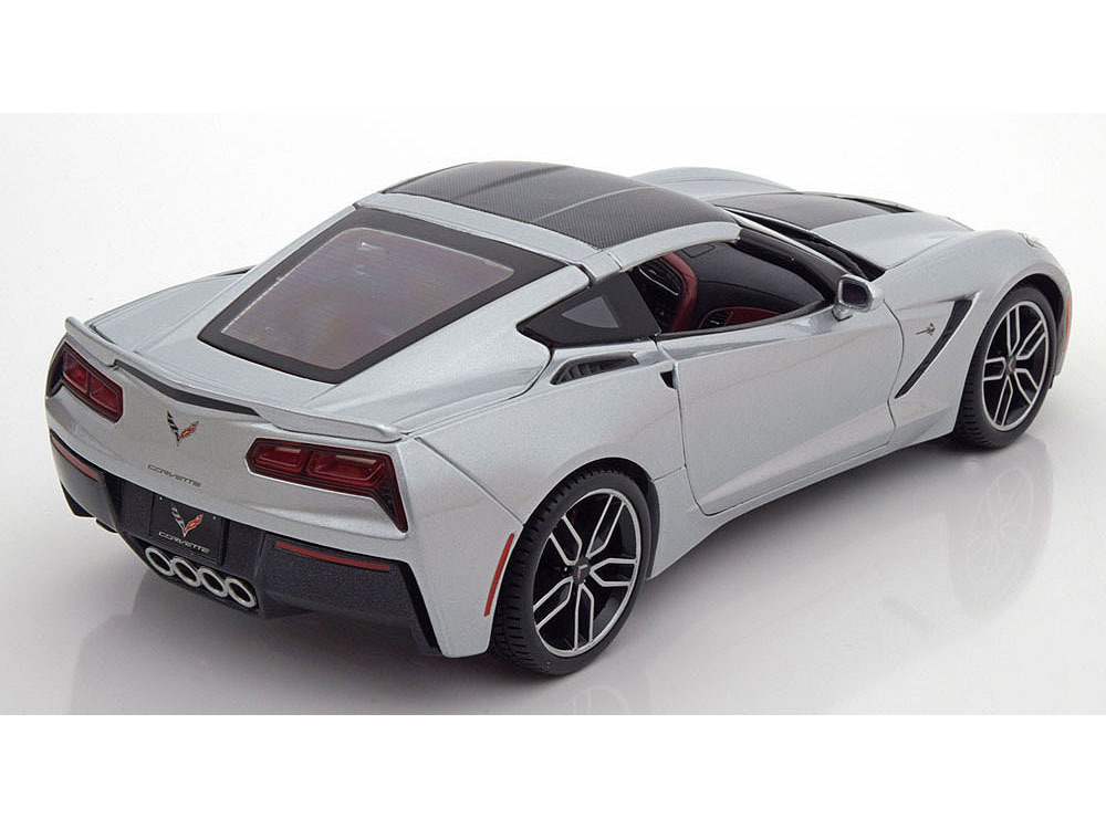 Коллекционная модель Chevrolet Corvette Stingray Z51 Coupe 2014 Silver/carbon