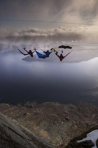 Мы в лагере гамаков под облаками.