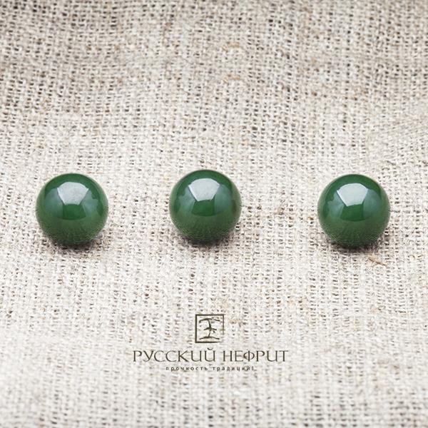 Вставки Шарик 10мм. Зелёный нефрит (класс бриле). businy_zel_10_2.jpg