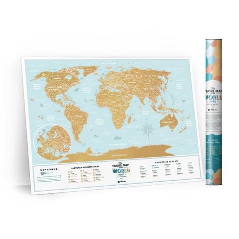 Скретч Карта Travel Map Holiday Lagoon World 1DEA.ME