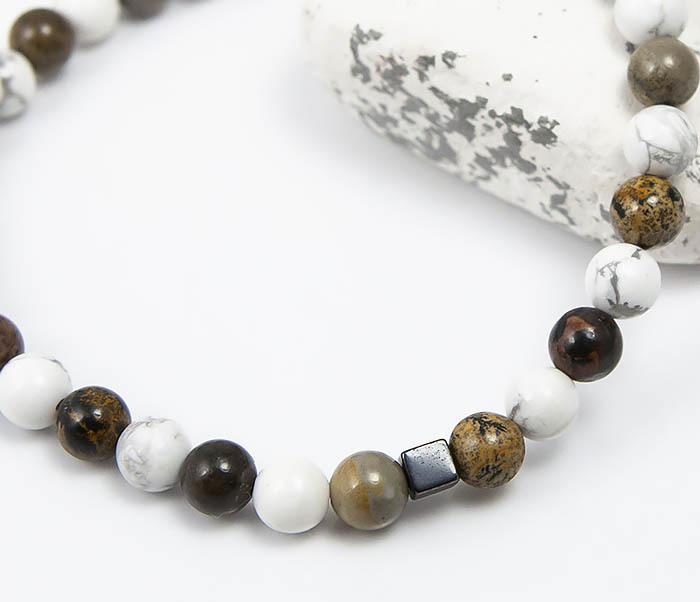 BS823 Ярий мужской браслет из разных натуральных камней фото 06