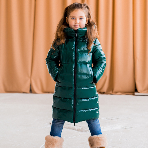 Дитяче підліткове зимове пальто для дівчинки