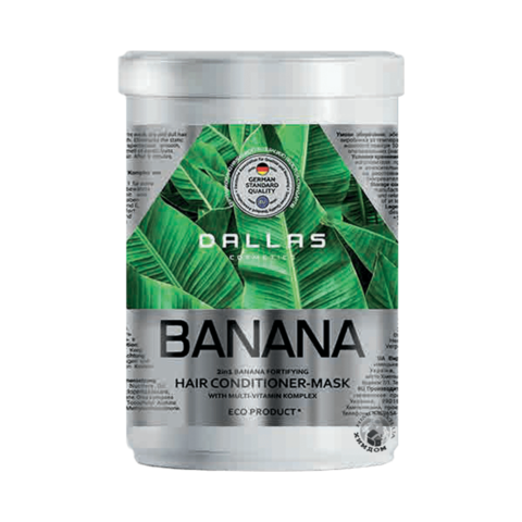 Dallas Крем маска для волос BANANA укрепляющая с Мультивитаминным.комплексом, 70г
