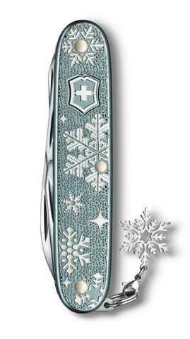 Нож Victorinox Pioneer X Winter Magic SE 2020, 93 мм, 9 функций, с шармом (подар. упаковка)