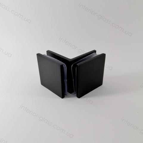Соединитель для стекла 90 град. HDL-725 BLK литой черный матовый