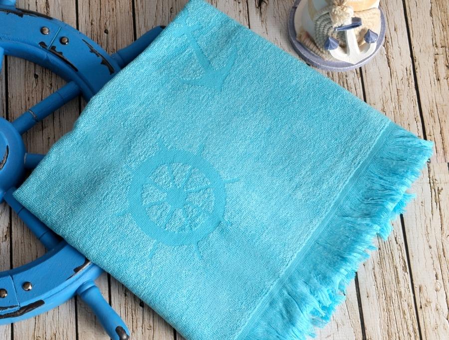 Полотенца для бани и сауны SEASIDE Turkuaz (голубой)   полотенце пляжное бамбуковое  IRYA (Турция) SEASIDE_Turkuaz__голубой_.jpg