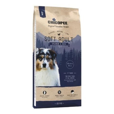 Chicopee CNL Soft Adult Salmon & Rice полувлажный корм для взрослых собак всех пород с лососем и рисом, 15 кг.