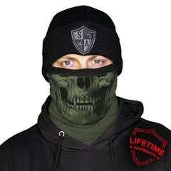 Шарф-труба SA Fleece Tactical | OD Green Skull (с черепом)