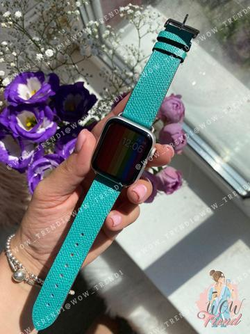 Ремешок Apple watch 42/44mm Hermès New Leather /green/