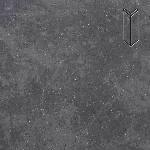 Stroeher - Keraplatte Roccia 845 nero 157x60x60x11 артикул 9000 - Угловой клинкерный подступенок