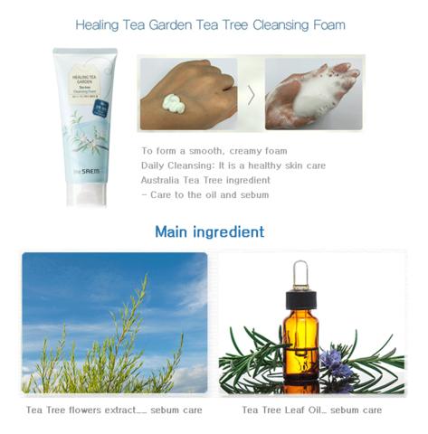 Увлажняющая и очищающая пенка для умывания с экстрактом белого чая THE SAEM Healing Tea Garden White Tea Cleansing Foam