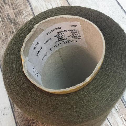 Кашемир с шелком (30%) CARIAGGI JAIPUR 2/56 зеленый защитный
