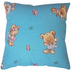 Папитто. Подушка детская файбертек, 40х40 см, голубая