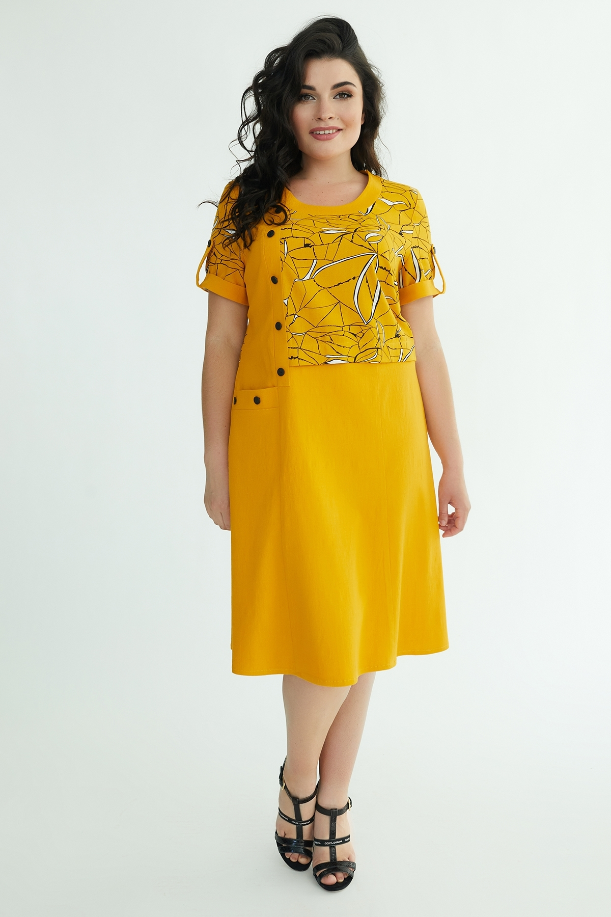 Сукня Кармеліта (гірчиця)