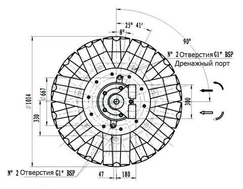 Гидромотор IPM12-18000