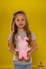 Подушка-игрушка антистресс Gekoko «Монстрик розовый» 1