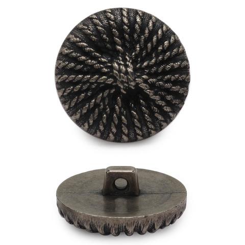 Пуговица Черненое серебро
