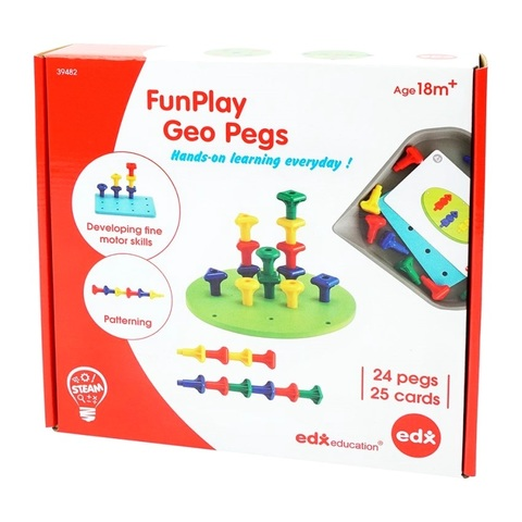 FanPlay Мозаика Geo Pegs Edx education 39482