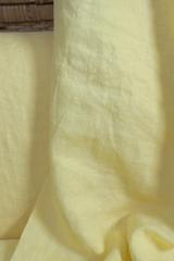 Ткань льняная, с эффектом мятости, цвет: светло-лимонный