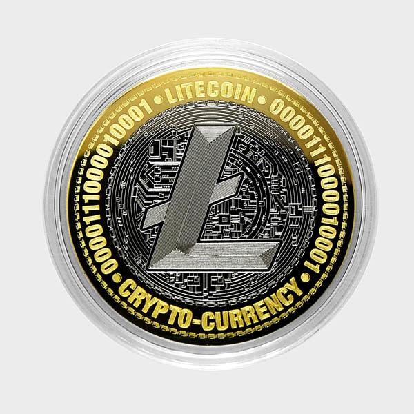 Лайткоин. Гравированная монета 10 рублей