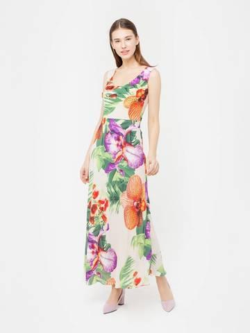 Фото летнее приталенное платье в пол с расклешенной юбкой - Платье З020-119 (1)