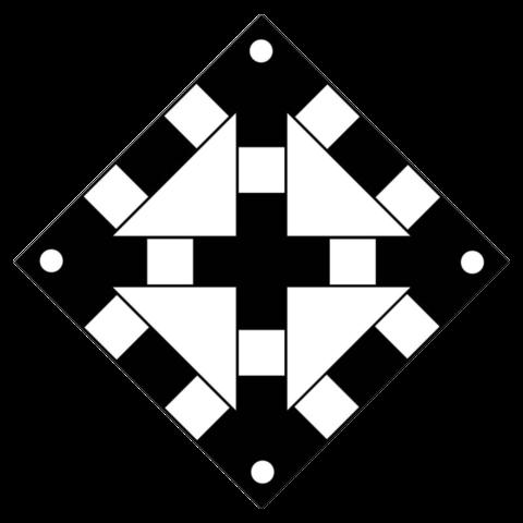 Железнодорожный знак «Поднять нож, закрыть крылья» (одно препятствие)
