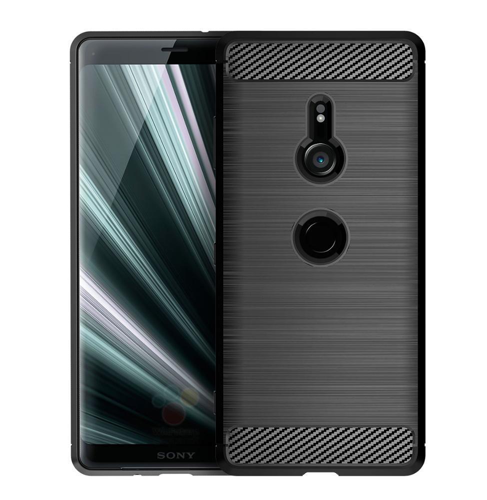 Чехол Sony Xperia XZ3 цвет Black (черный), серия Carbon, Caseport