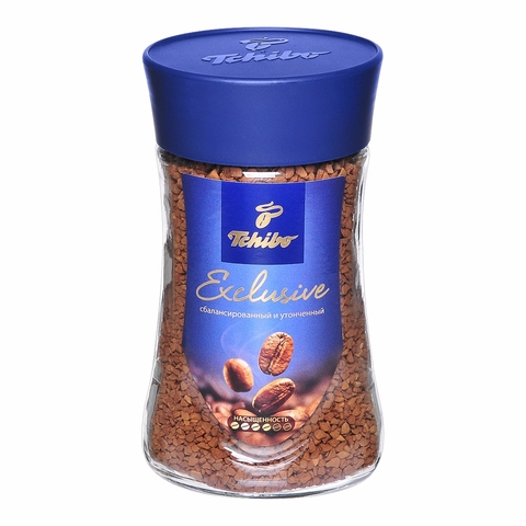 Кофе TCHIBO Exclusive Натуральный растворимый сублимир 190 г ст/б ПОЛЬША