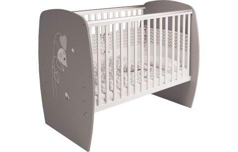 Кровать детская Polini kids French 700, Amis, белый-серый